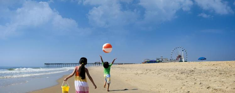 Kids on Beach-ocean city